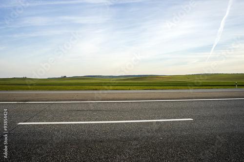 Fotografia, Obraz highway and field against blue sky