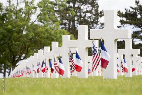 Wallpaper Mural Crosses in the Normandy American Cemetery and Memorial