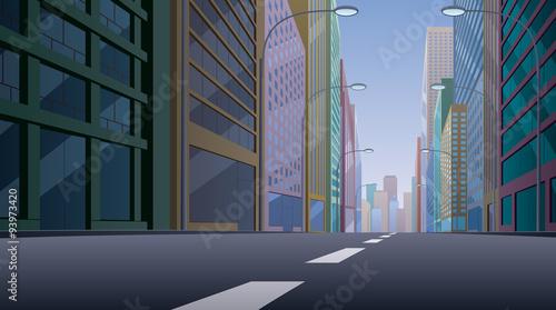 Obraz na płótnie City Street / City street background illustration