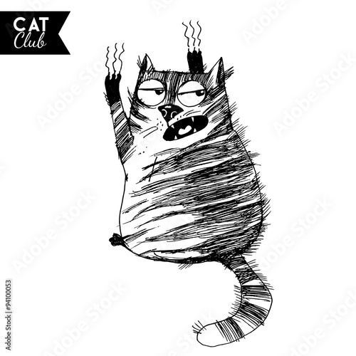 funny cat  character vector cat club #94100053
