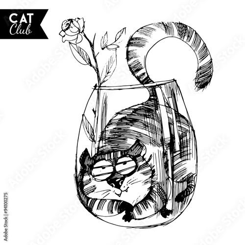 funny cat  character vector cat club #94100275