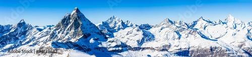 Fotografia Swiss Alps - Matterhorn, Switzerland, panorama