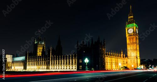 Westminister bridge and big ben at night, London, United Kingdom #94193017
