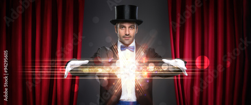 magician showing trick