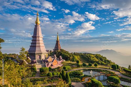 Stampa su Tela Sunset at Doi Inthanon - Chiang mai Thailand