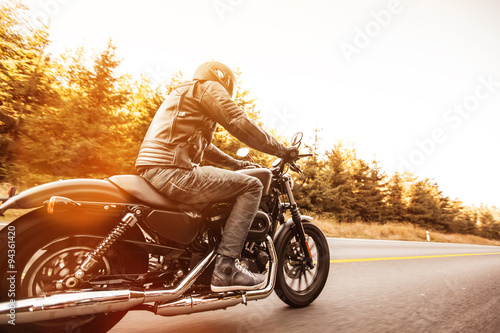 Canvas Print Close up of a high power motorcycle