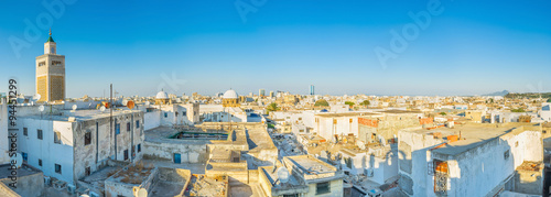 Panorama of Tunis roofs