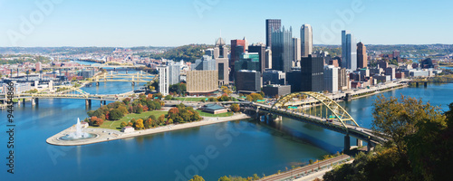 Fotografia Panoramic view on Pittsburgh, PA