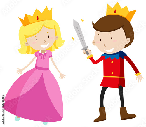 Prince and princess looking happy