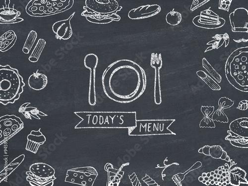 Fototapeta Today's menu