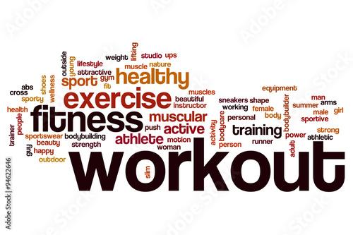 Workout word cloud concept #94622646