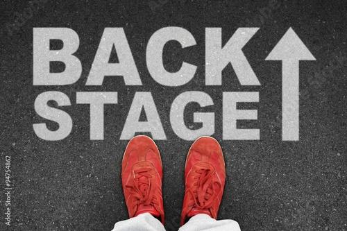 Fotografering th t backstage I