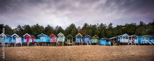 Fotografia, Obraz Beach Huts