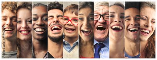 Fotografie, Obraz Laughing people