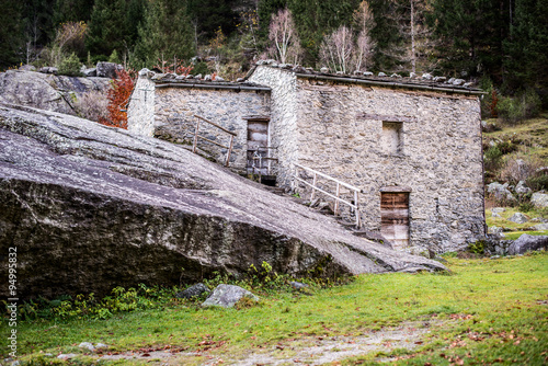 rural building in a mountain village #94995832