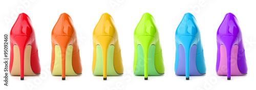 Fotografiet Rainbow Shoes