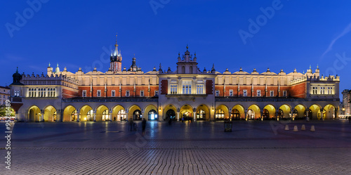 Cloth Hall Sukiennice building in the evening on main square of #95281489