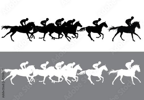 Fotografie, Obraz horse racing