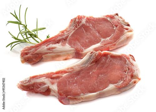 Stampa su Tela veal meat chop