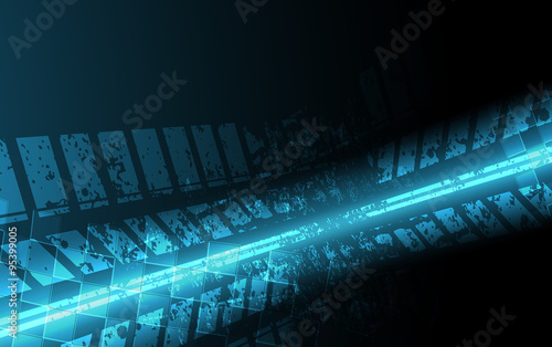 Racing square background, vector illustration abstraction in racing car track #95399005
