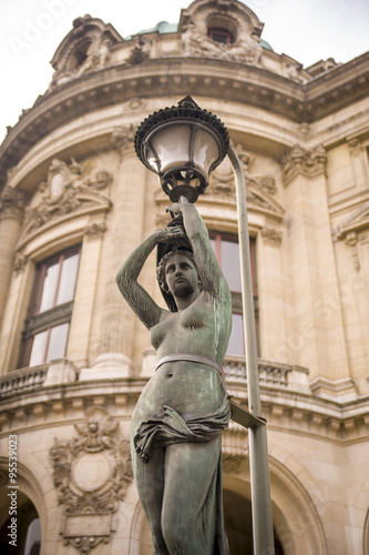 statue at Palais Garnier, Paris Fototapet