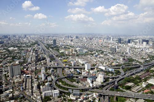 bangkok view from baiyoke tower II on 3 July 2014 BANGKOK