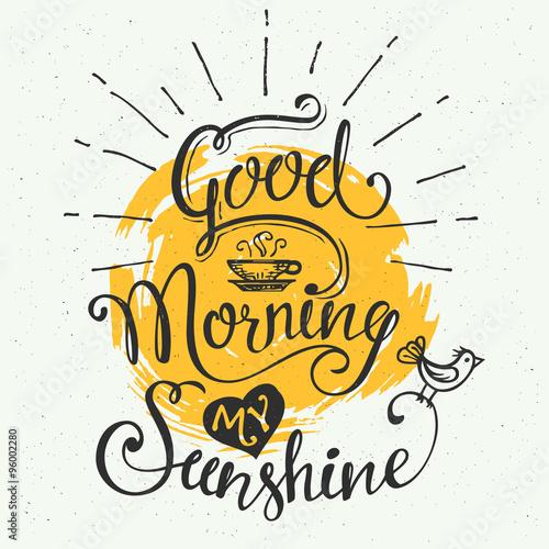 Valokuva Good morning my sunshine
