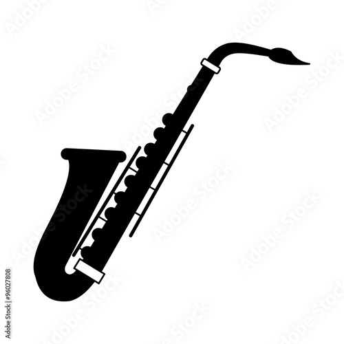 Canvas Print Saxophone black icon