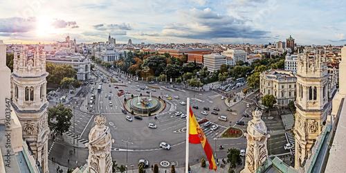 Fototapeta premium Madryt, Plaza de Cibeles