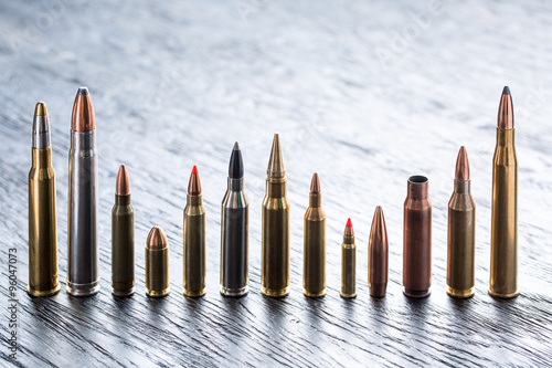 Fotografija Number of large-caliber ammunition