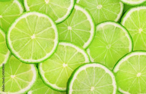 Fotografia Lime slice background
