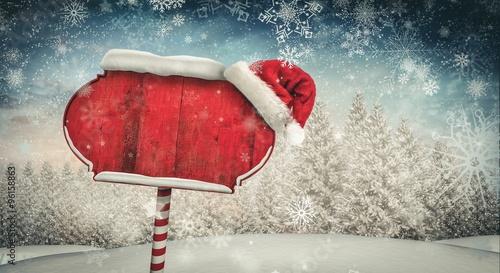 Fotografie, Obraz Santa sign in north pole