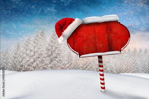Carta da parati Santa sign in north pole