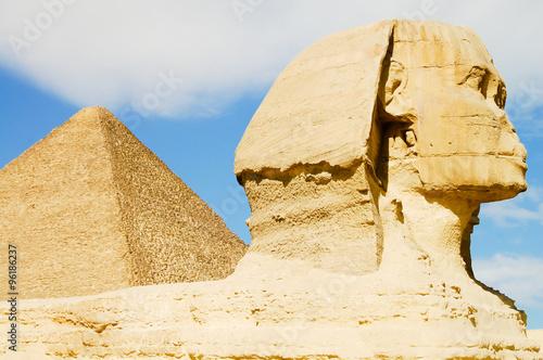 Sphinx & Pyramid - Giza - Egypt #96186237
