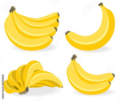 Cuadros en Lienzo Fresh banana fruits