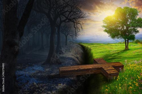 Slika na platnu Crossing the gap