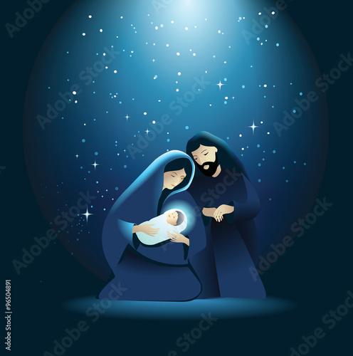 Fototapeta Nativity scene with Holy Family