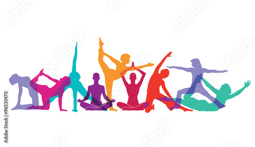 Fotografia Yoga und Gymnastik Posen