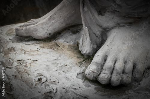 Canvas-taulu The feet of Christ