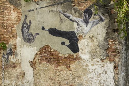 Street art in Georgetown Malaysia