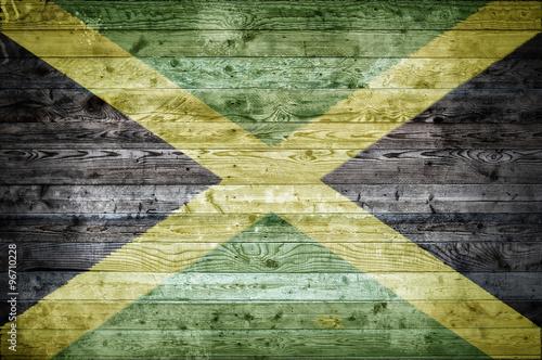 Wooden Boards Jamaica Fototapeta