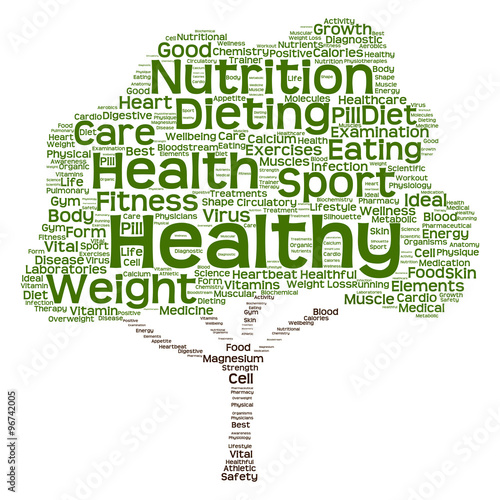 Conceptual health or diet tree word cloud #96742005