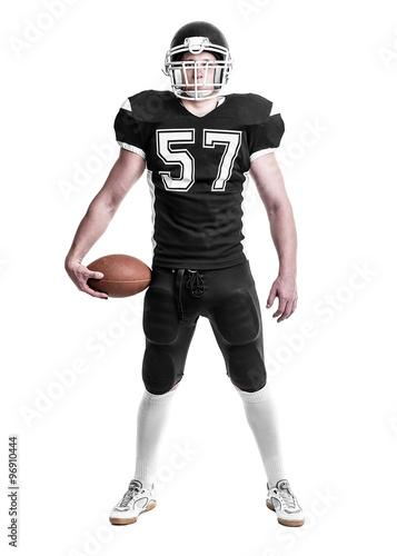 Canvas Print American football player.