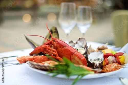 Fotografie, Obraz Seafood lobster on table