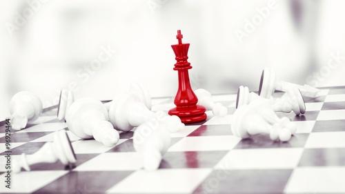 Fotografie, Obraz Winner chess