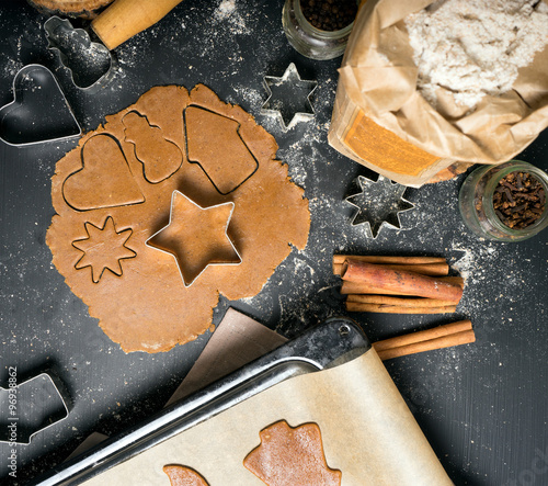 homemade gingerbread and cookies cooking process #96938862