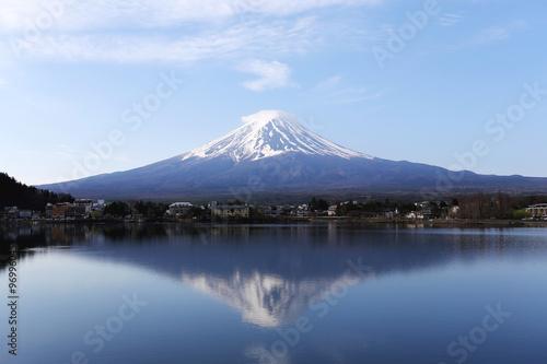 Mount Fuji in kawaguchiko lake side. #96996045