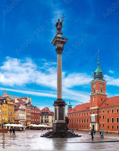 Royal Castle and Sigismund Column in Warsaw