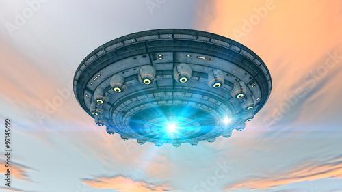 Canvas Print 3d futuristic UFO