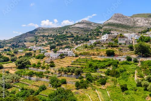 Платно Traditional Greek village in the mountains, Apiranthos village, Naxos island, Cyclades, Greece